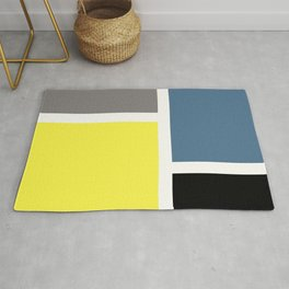 Colorful rectangles Rug