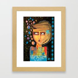 happiness is always there Framed Art Print