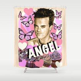 Angel Cupcake Shower Curtain