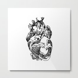 Heart of The Ocean Waves Metal Print