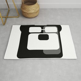 The Intelligent Bear Logo Rug