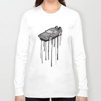 delorean Long Sleeve T-shirts featuring Delorean Drip by Vin Zzep