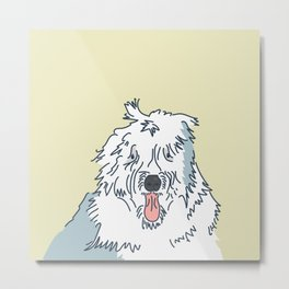 Scampy the Old English Sheep Dog Metal Print