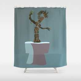 baby groot Shower Curtain