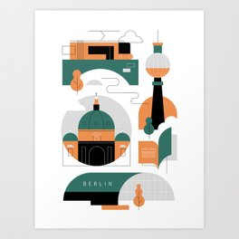 Berlin City I Art Print