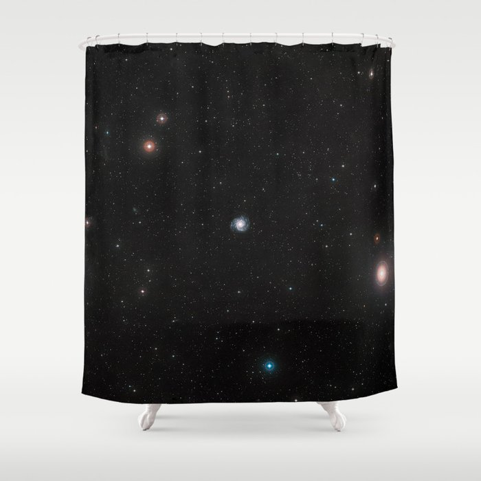 Endless space loop Shower Curtain