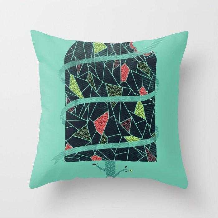 The Winter Tree Throw Pillow