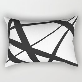 Broken Star Geometric Abstract Rectangular Pillow
