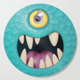 Cartoony monster face Cutting Board