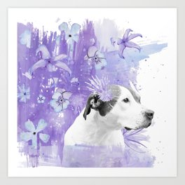 Sugarplum Pitbull Art Print