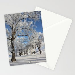 Frosted Trees Stationery Cards