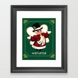 Christmas Mistletoe Framed Art Print