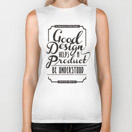 Good design helps product be understood Biker Tank