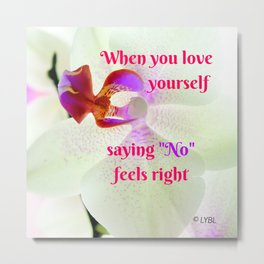 """No"" Feels right Metal Print"