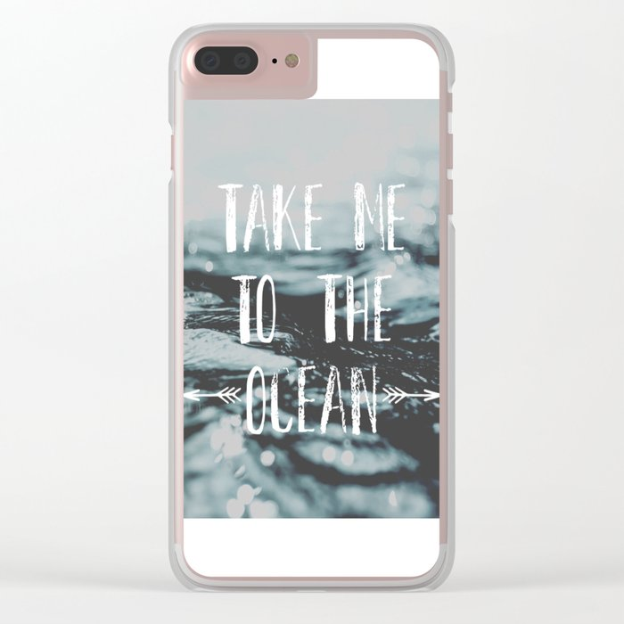 Take me to the ocean Clear iPhone Case