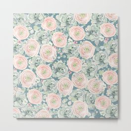 Flowers And Succulents #buyart #decor #society6 Metal Print