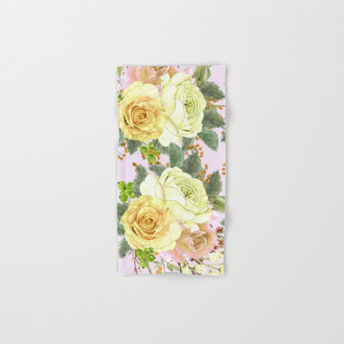 Watercolor Roses #4 Hand & Bath Towel