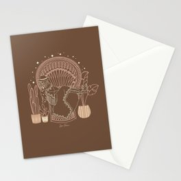 Texas Bohemia in Brown & Blush Stationery Cards
