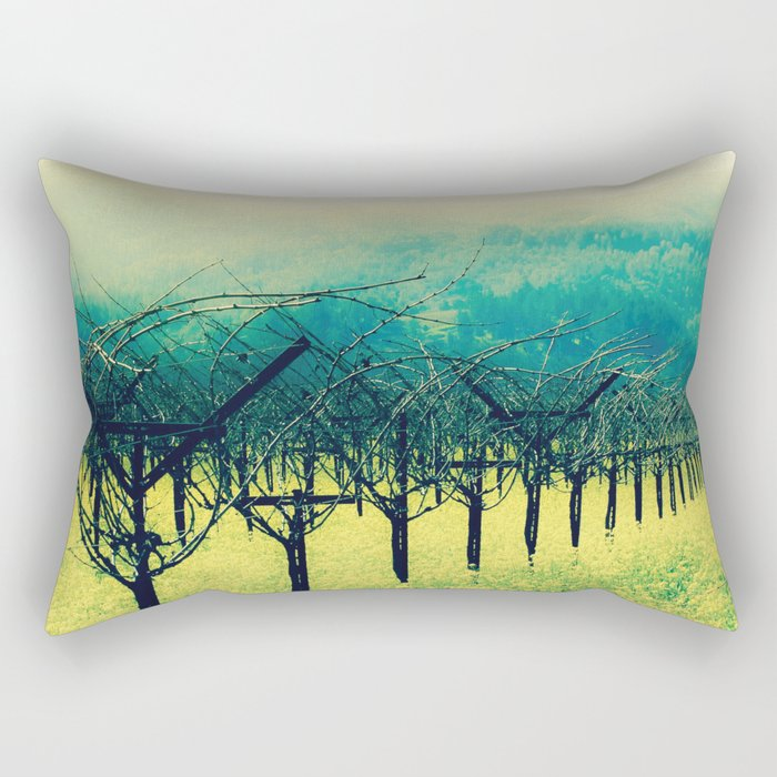 Winter Vineyard I - Serenity Rectangular Pillow
