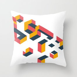 Floating in the air Throw Pillow