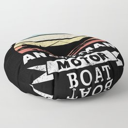 Funny Old Man with a Motor Boat Gift Floor Pillow