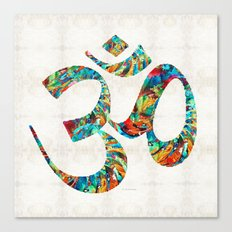 Colorful Om Symbol - Sharon Cummings Canvas Print