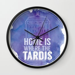 Home is Where the TARDIS Wall Clock
