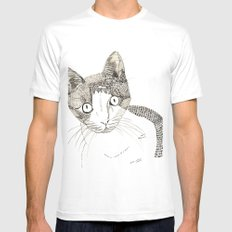 Humphrey the cat Mens Fitted Tee White MEDIUM