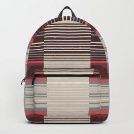 Bauhaus Stripe in Red Multi Backpack