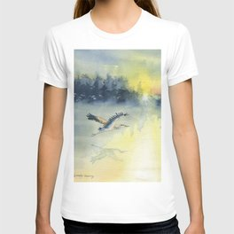Flying Home - Great Blue Heron T-shirt