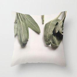 Fresh Sage  Throw Pillow