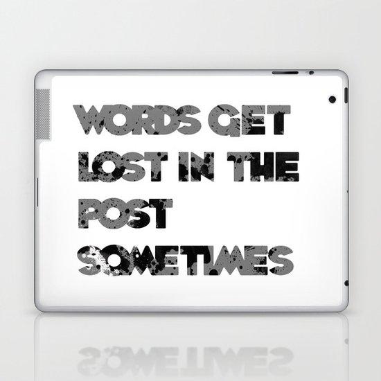 words. Laptop & iPad Skin