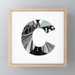 The letter C Framed Mini Art Print
