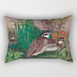 Covey of quail Rectangular Pillow