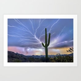 The Deluxe Arizona Monsoon Package Art Print