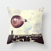 skyline Throw Pillows featuring Skyline by maybesparrowphotography