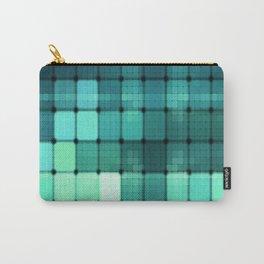 Techno Aqua Pattern Carry-All Pouch