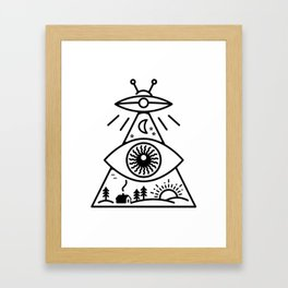 They Watch Us Framed Art Print