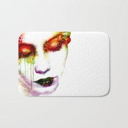 Melancholy in watercolor Bath Mat