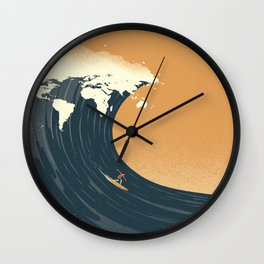 Surfing the World Wall Clock