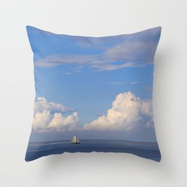 Sea And Sky In Holland Throw Pillow