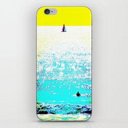Sailboat and Swimmer (2c) iPhone Skin