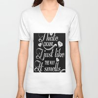 cocaine V-neck T-shirts featuring I hate cocaine!... by John D'Amelio