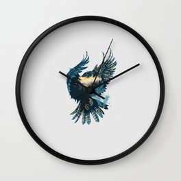 Forest Falcon Wall Clock
