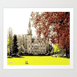 Building in autumn Art Print