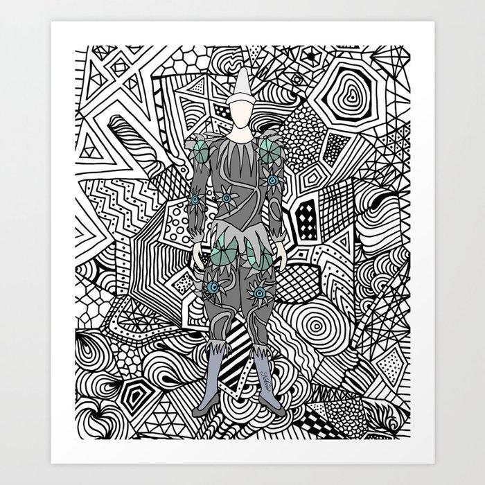 Heroes Fashion 5 Art Print