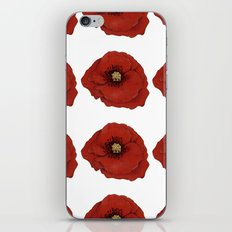 I Adore Poppies iPhone & iPod Skin