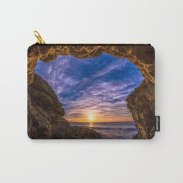 Beach Cave Sunset Carry-All Pouch