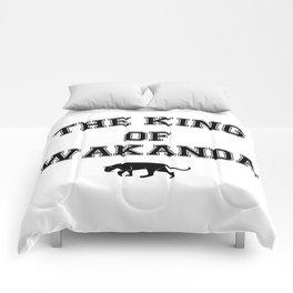 The King Of Wakanda black Comforters
