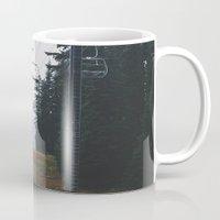 ski Mugs featuring Ski Lift by Hannah Kemp
